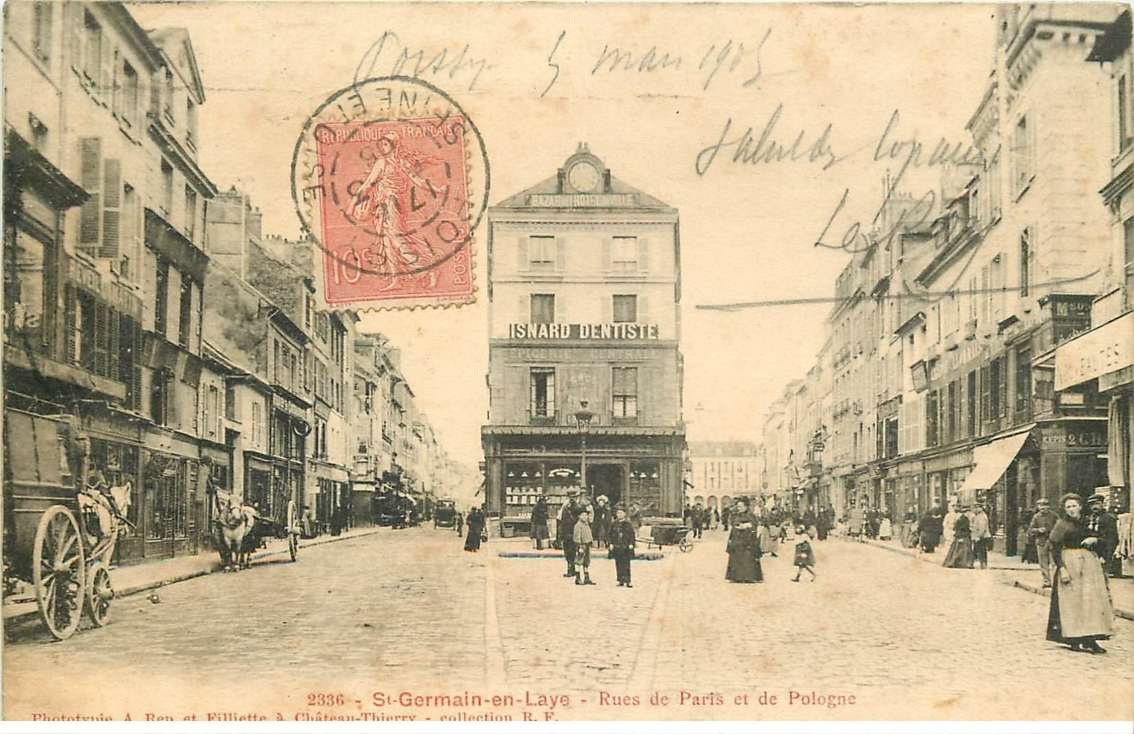 carte postale ancienne Lot de 19 CPA SAINT-GERMAIN-EN-LAYE 78. Série C