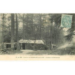 carte postale ancienne 78 SAINT-GERMAIN-EN-LAYE. Cabane de Bûcherons vers 1906