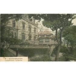 carte postale ancienne 78 SAINT-GERMAIN-EN-LAYE. Terrasse du SPA Français
