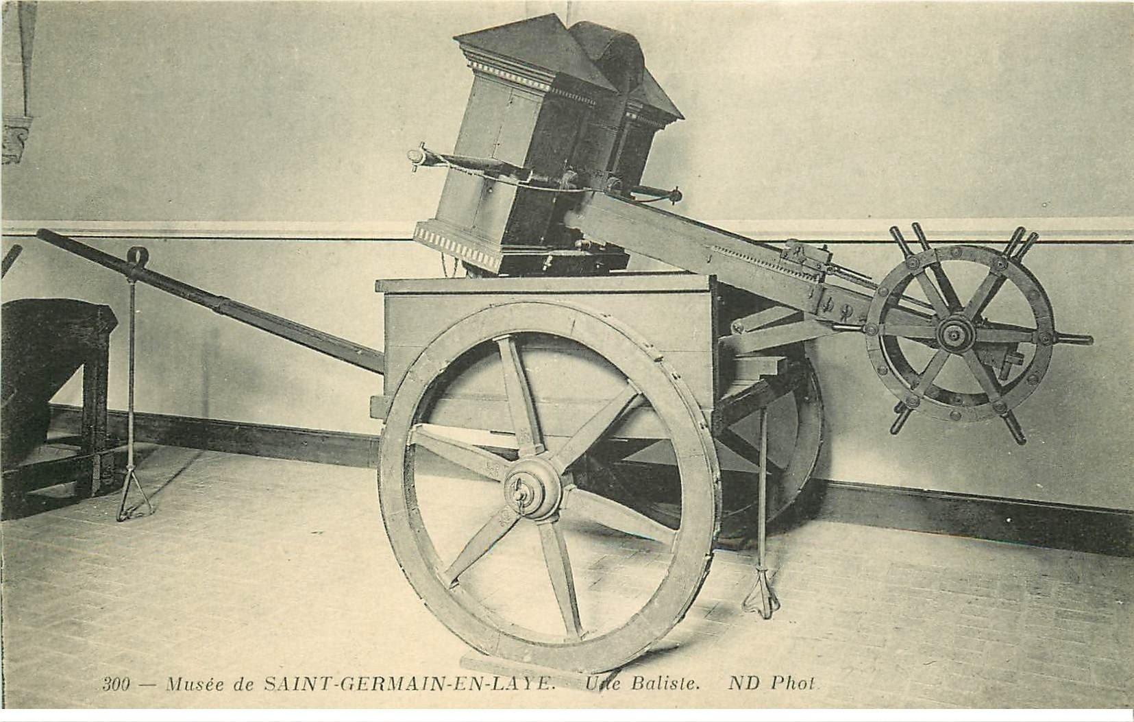 carte postale ancienne 78 SAINT-GERMAIN-EN-LAYE. Musée une Baliste