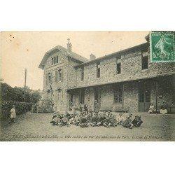 carte postale ancienne 78 SAINT-GERMAIN-EN-LAYE. Villa Scolaire de Paris Cour de Récréation 1922