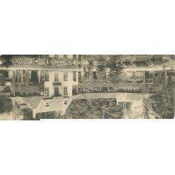 carte postale ancienne 78 VERSAILLES. Carte double panoramique. Hameau Marie-Antoinette