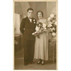 carte postale ancienne 78 VERSAILLES. Photo format carte. Mariage de Théo et Simone 1935 à Versailles