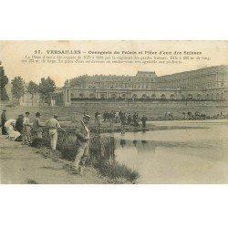 carte postale ancienne 78 VERSAILLES. Pêcheurs à la Pièce d'eau des Suisses 1905