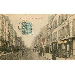 carte postale ancienne 78 VERSAILLES. Rue de l'Orangerie 1904 Commerce de vins