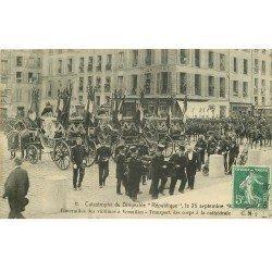 carte postale ancienne 78 VERSAILLES. Catastrophe du Dirigeable République. Funérailles 1909