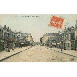 carte postale ancienne 78 VERSAILLES. Rue d'Anjou 1913