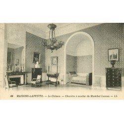 carte postale ancienne 78 MAISONS-LAFFITTE. Le Château Chambre Maréchal Lannes
