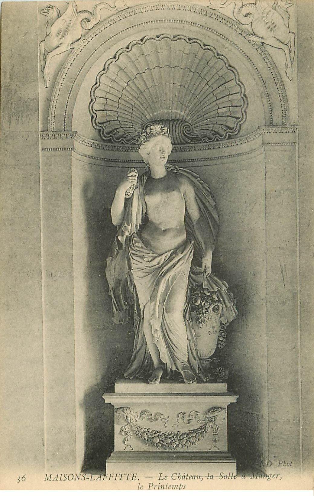 carte postale ancienne 78 MAISONS-LAFFITTE. Le Château Salle à Manger