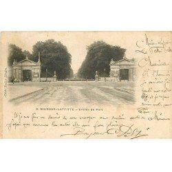 carte postale ancienne 78 MAISONS-LAFFITTE. Entrée du Parc 1903