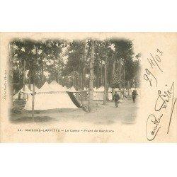 carte postale ancienne 78 MAISONS-LAFFITTE. Le Camp 1903 Front de Bandière