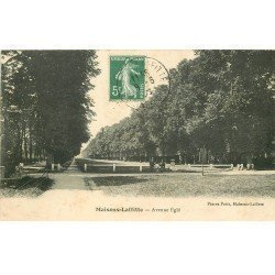 carte postale ancienne 78 MAISONS-LAFFITTE. Avenue Eglé 1908 animation