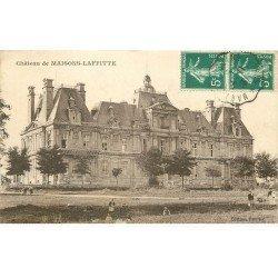 carte postale ancienne 78 MAISONS-LAFFITTE. Le Château animation 1910