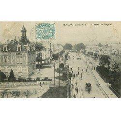 carte postale ancienne 78 MAISONS-LAFFITTE. Avenue Longueil et Parc 1907