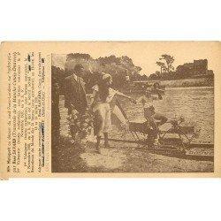 carte postale ancienne 78 ANDRESY. Mistinguett raid Paris-Londres sur Hydrocycle