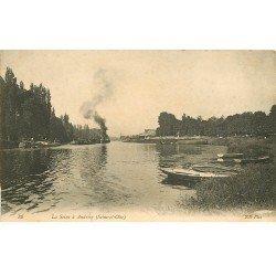carte postale ancienne 78 ANDRESY. Péniches sur la Seine