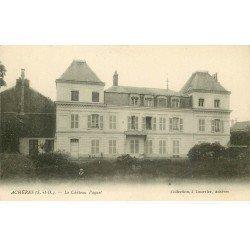 carte postale ancienne 78 ACHERES. Château Paquet petite animation