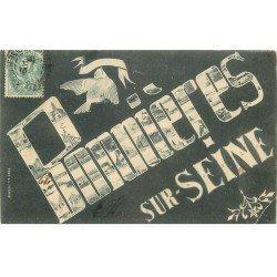 carte postale ancienne 78 BONNIERES-SUR-SEINE. Fantaisie 1906