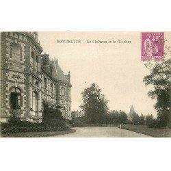 carte postale ancienne 78 BONNELLES. Le Château et Clocher 1933