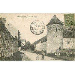 carte postale ancienne 78 BOINVILLIERS. La Grande Ferme 1917