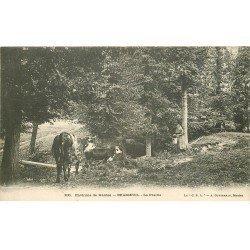 carte postale ancienne 78 BRASSEUIL. La Prairie Fermière et Vaches
