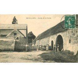 carte postale ancienne 78 BOINVILLIERS. Entrée de la Ferme 1910 Paysans et Fermiers