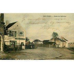 carte postale ancienne 78 BOIS D'ARCY. Route de Saint-Cyr. Maison de vins Hamelin et Poste de Secours cycliste