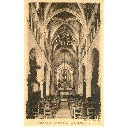 carte postale ancienne 78 BOUGIVAL. Nef de Notre-Dame