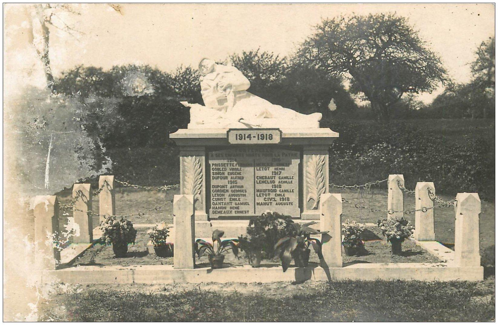 carte postale ancienne 02 FONTENELLE. Monument aux Morts 1914-18