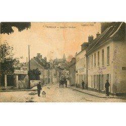 carte postale ancienne 78 HOUDAN. Café du Bosquet Quartier Saint-Jean. En l'état...