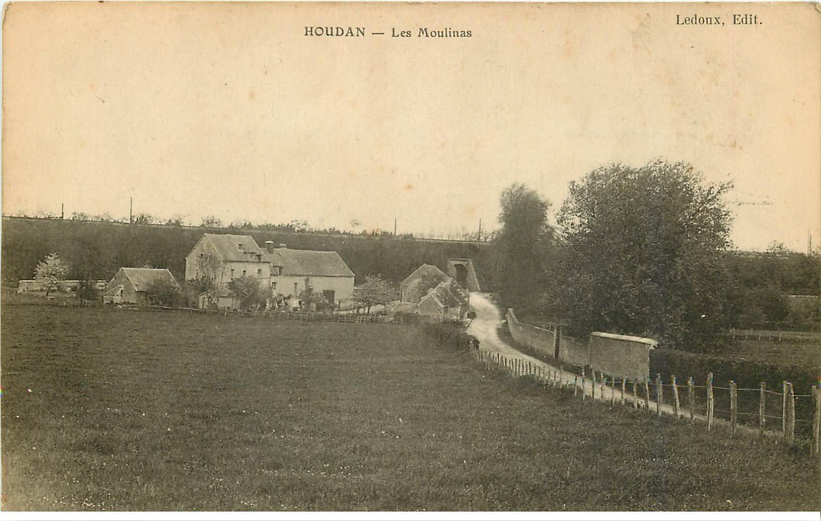 carte postale ancienne 78 HOUDAN. Les Moulinas