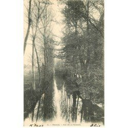carte postale ancienne 78 HOUDAN. Vue de la Vesgre 1903