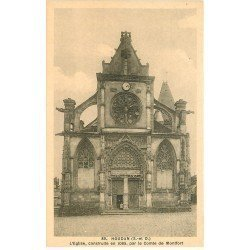carte postale ancienne 78 HOUDAN. Eglise animation