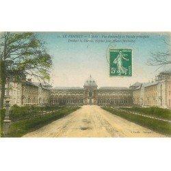 carte postale ancienne 78 LE VESINET. Cour Asile National Hôpital pour blessés Militaires