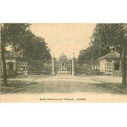 carte postale ancienne 78 LE VESINET. Asile National Façade Entrée 1911