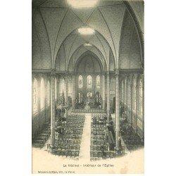 carte postale ancienne 78 LE VESINET. Intérieur Eglise