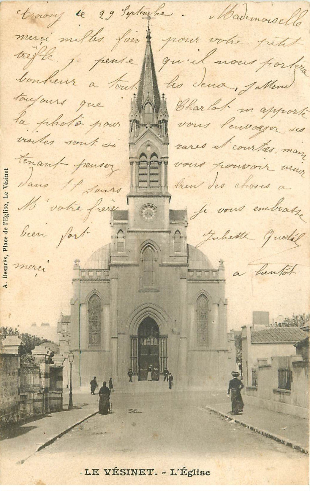 carte postale ancienne 78 LE VESINET. L'Eglise 1903