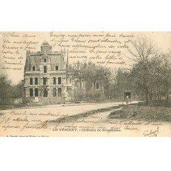 carte postale ancienne 78 LE VESINET. Château de Grandjean 1903
