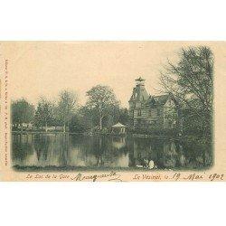 carte postale ancienne 78 LE VESINET. Lac de la Gare timbre 1 centime 1902 lecteur allongé