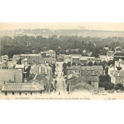 carte postale ancienne 78 LE VESINET. Panorama sur Saint-Germain