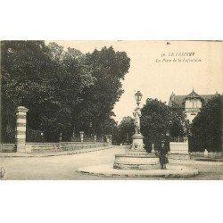 carte postale ancienne 78 LE VESINET. Place de la Lafontaine 1918