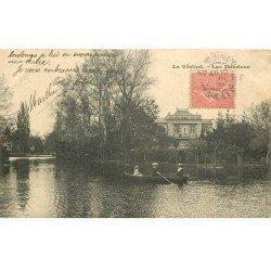 carte postale ancienne 78 LE VESINET. Canotage sur Lac 1905