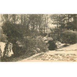 carte postale ancienne 78 LE VESINET. Personnages sur la Grotte 1903