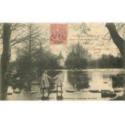 carte postale ancienne 78 LE VESINET. Passage du Gué 1906