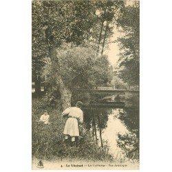 carte postale ancienne 78 LE VESINET. Jeu de cache-cache au Lac