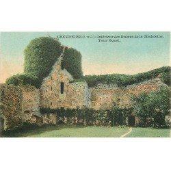 carte postale ancienne 78 CHEVREUSE. Château de la Madeleine ruines