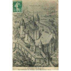 carte postale ancienne 78 CHEVREUSE. Château de la Madeleine restitué
