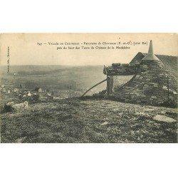 carte postale ancienne 78 CHEVREUSE. Panorama Tours du Château de la Madeleine