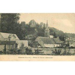 carte postale ancienne 78 CHEVREUSE. Ruines ancien Château-Fort 1904