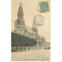 carte postale ancienne 78 POISSY. Eglise 1904